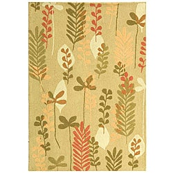 Safavieh Handmade Ferns Contemporary Taupe Wool Rug (3'9 x 5'9)