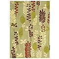 Handmade Ferns Light Green Wool Rug (3'9 x 5'9)