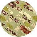 Safavieh Handmade Ferns Light Green Wool Rug (8' Round)