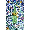 'Wild Wood Flying Bird' 15-tile Ceramic Wall Mural