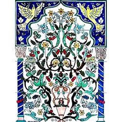 Andalousian Gate Mosaic Ceramic 12-tile Mural