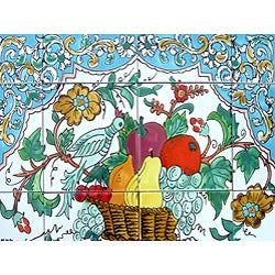Mosaic Kitchen Backsplash 12-tile Ceramic Mural