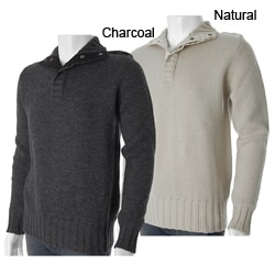 French Connection Men's Mock Neck Wool Sweater