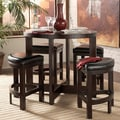 TRIBECCA HOME Capria Brown 5-piece Counter Height Pub Dining Set