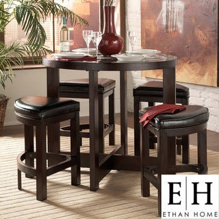 ETHAN HOME Capria Brown 5-piece Counter Height Pub Dining Set