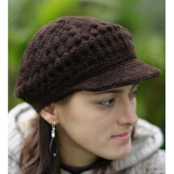 Wool 'Chocolate Cap' Alpaca Hat (Peru)