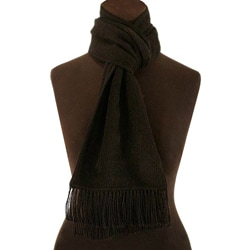 'Coal Night' Alpaca Wool Scarf (Peru)