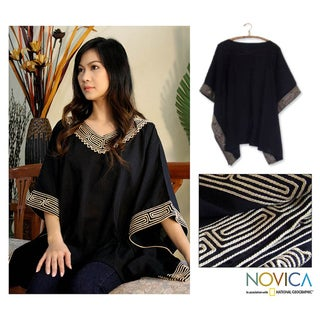 Cotton 'Flowing Nature' Blouse (Thailand)