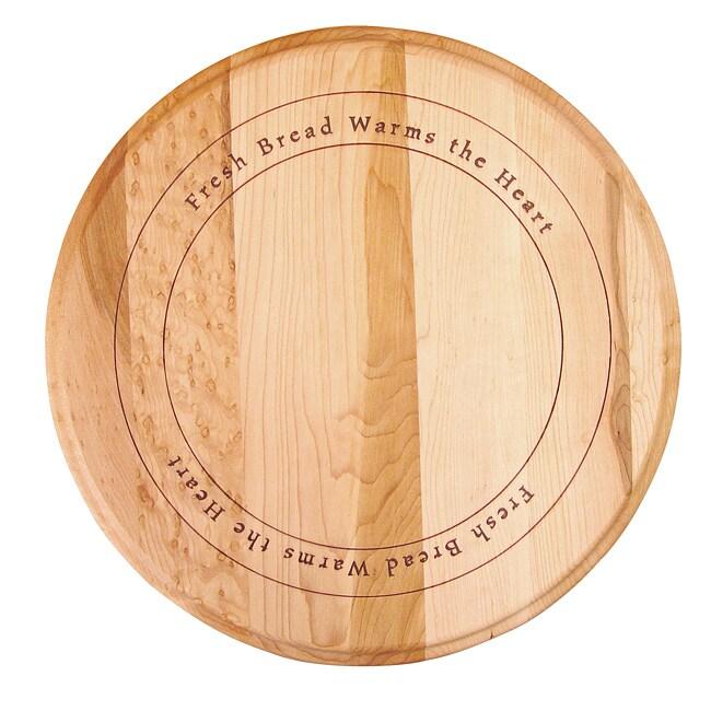 'Fresh Bread Warms the Heart' Round Cutting Board
