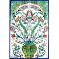 Mosiac 'Colorful Plant' 6-tile Cermaic Wall Mural