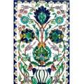 Mosaic 'Floral Pot' 6-tile Ceramic Wall Mural