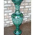 La Palmeraie Moderne 26-inch Ceramic Vase (Morocco)