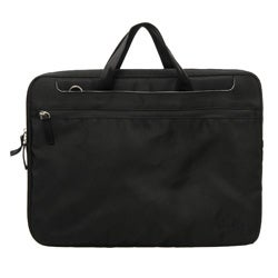 Pinder Bags Corner Office Black Nylon 15.4-inch Laptop Sleeve