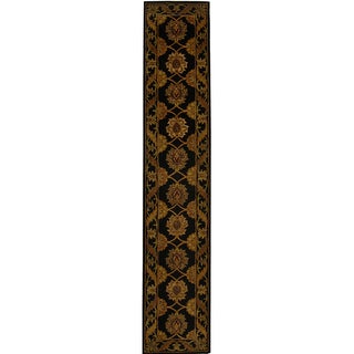 Safavieh Handmade Heritage Mahal Black Wool Runner (2'3 x 14')