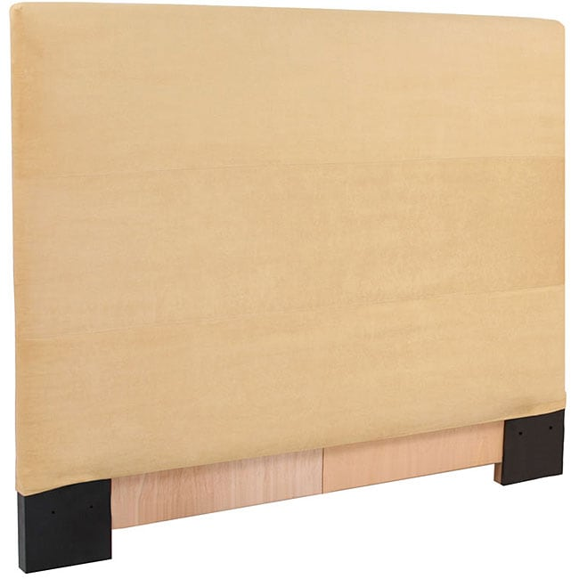 Full/Queen Microsuede Slipcovered Wooden Headboard