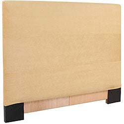 King-size Chamois Microsuede Slipcovered Headboard