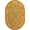 Safavieh Handmade Antiquities Treasure Teal/ Beige Wool Rug (4'6 x 6'6)