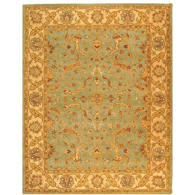 Safavieh Handmade Antiquities Treasure Teal/ Beige Wool Rug (6' x 9')