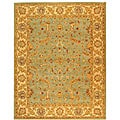 Handmade Antiquities Treasure Teal/ Beige Wool Rug (8'3 x 11')