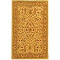 Handmade Antiquities Treasure Ivory/ Brown Wool Rug (3' x 5')