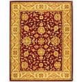 Handmade Antiquities Jewel Red/ Ivory Wool Rug (9'6 x 13'6)