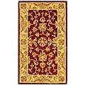 Safavieh Handmade Antiquities Jewel Red/ Ivory Wool Runner (2'3 x 4')