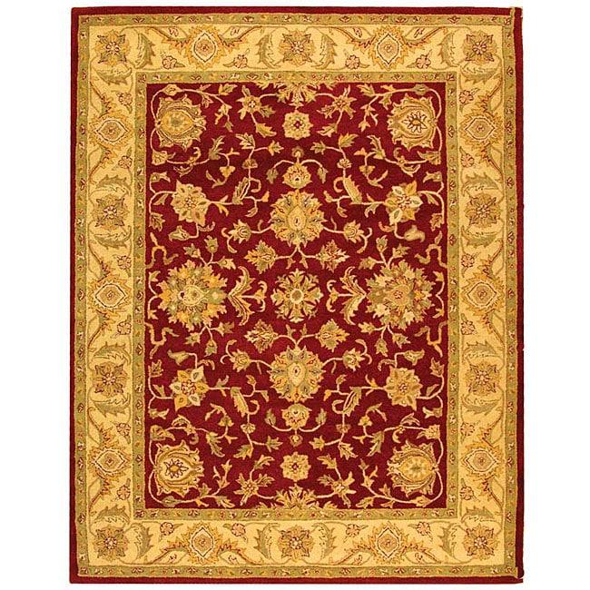 Safavieh Handmade Antiquities Jewel Red/ Ivory Wool Rug (6' x 9')