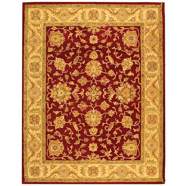 Safavieh Handmade Antiquities Jewel Red/ Ivory Wool Rug (7'6 x 9'6)