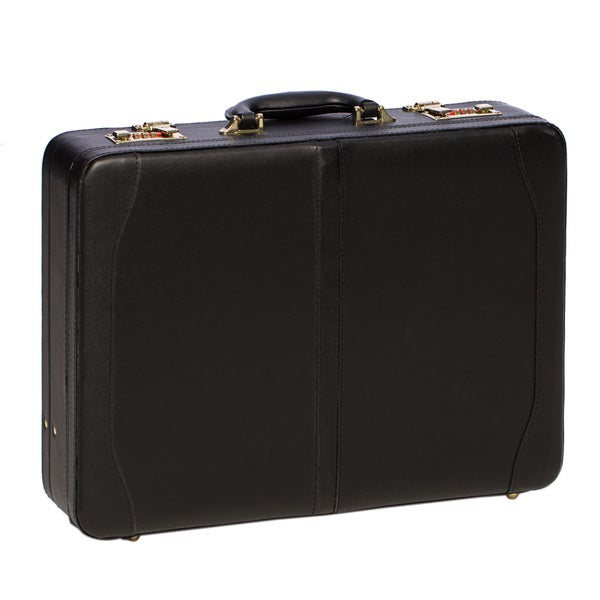 Avenues Executive Leather Expandable Attache Case