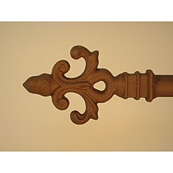 Provence 166 to 190-inch Mocha Brown Adjustable Curtain Rod