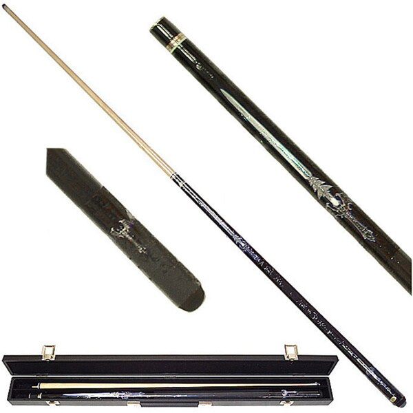 Blue Sword 2-piece Pool Cue with 6 Replacement Tips
