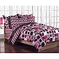 Opus Pink 5-Piece Twin-size Bed in a Bag with Sheet Set