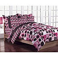 Opus Pink 7-Piece Full-size Bed in a Bag with Sheet Set
