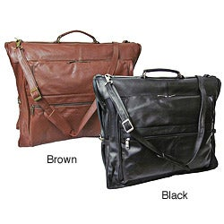 Amerileather Cowhide Leather 3-suit Garment Bag
