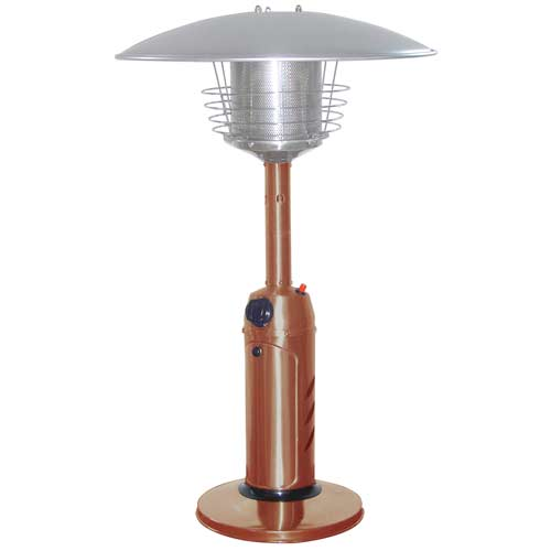 Stainless Steel Copper Finish Tabletop Patio Heater