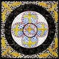 Balkis Design 16-tile Ceramic Mosaic Medallion