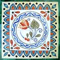 Lycus Design 16-tile Ceramic Mosaic Medallion