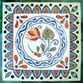 Lycus Design 16-tile Ceramic Mosaic Medallion