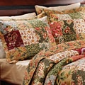 Antique Chic King-size 3-piece Patterned Cotton Bedspread Set