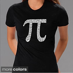 Los Angeles Pop Art Women's 'Pi' T-shirt