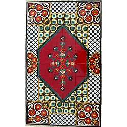 Architectural 'Tabriz Design' 60-tile Ceramic Wall Art
