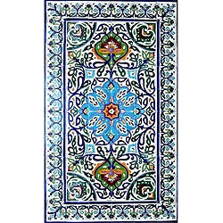 Architectural 'Bahar Design' 60-tile Ceramic Wall Art