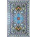 Architectural 'Bahar Design' 60-tile Ceramic Wall Art