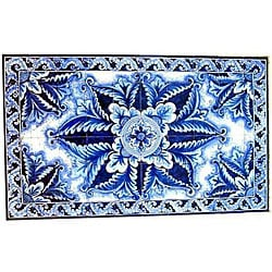 Architectural 'Borazjan Design' 60-tile Ceramic Wall Art