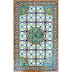 Architectural 'Raya Design' 40-tile Ceramic Wall Art
