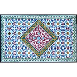 Architectural 'Birjand Design' 40-tile Ceramic Wall Art