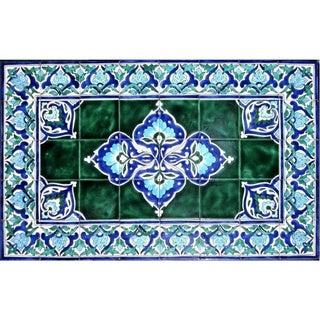 Architectural 'Lengeh Design' 40-tile Ceramic Wall Art