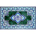 Architectural 'Lengeh Design' 40-tile Ceramic Wall Art