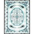 Architectural 'Sheh Jihene Design' 40-tile Ceramic Wall Art