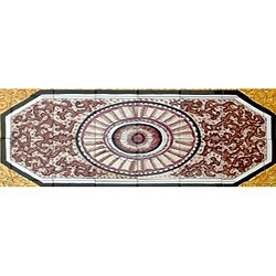 Architectural 'Khourassen Design' 40-tile Ceramic Wall Art